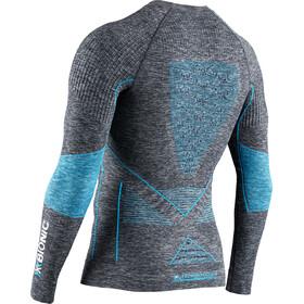 X-Bionic Energy Accumulator 4.0 Melange Koszulka z długim rękawem Mężczyźni, dark grey melange/blue